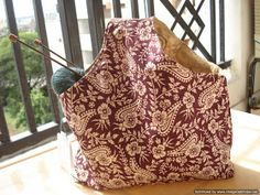Handmade by Knottygal: Nifty project bag!