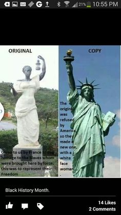 """There's been a misnomer and false information floating around online for the last few years now regarding The """"Lady Liberty"""" statue in St. Martin (Caribbean), and Statue of Libert… History Books, World History, History Quotes, Women's History, Ancient History, Aigle Animal, Kings & Queens, Afrique Art, By Any Means Necessary"""