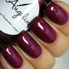 "@loveangelinepolish ""Learning to Love Again"" is a stunning berry scattered holo - available exclusively this month, only 20 bottles available. Will be available for purchase on Thursday 5/15."