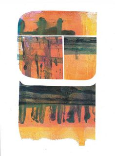 collage from gelli plate prints