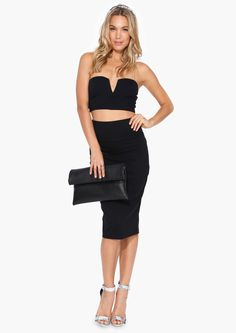 All Night Pencil Skirt in Black | Necessary Clothing