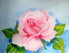 """ROSE""Original  Watercolor, painting by artist Meltem Kilic"