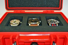 OUR NEW OYSTER 3/0 WATCH CASE.  A near indestructible, waterproof travel case with a tailor-made interior for 3 watches £49.95 - IN STOCK TODAY