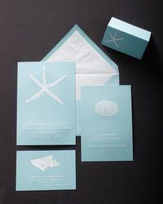 Blue & White invitation   Get inspired with Martha Stewart wedding invitation ideas!