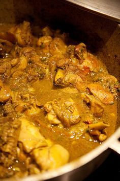 This is curry chicken. More specifically, Trinidadian chicken curry. Even more specifically, my husband Tom's Trinidadian chicken curry. Last week's version, to be exact.   There are as...