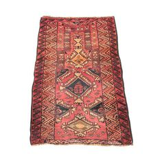 "Image of Vintage Red Persian Rug - 2'5""x3'9"""
