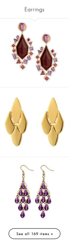 """""""Earrings"""" by gorgeouslor ❤ liked on Polyvore featuring jewelry, earrings, brincos, orecchini, 18 karat gold jewelry, garnet drop earrings, gold jewelry, gold post earrings, yellow gold earrings and gold"""