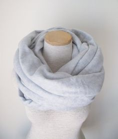 Fleece Infinity Scarf Cowl in Grey Heather  by MegansMenagerie, $20.00