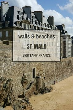 Let's explore the walls and beaches of the beautiful walled city St Malo in Brittany France Places In Europe, Places To Visit, Provence, French Beach, Camping Cornwall, St Malo, Brittany France, Family Days Out, Walled City