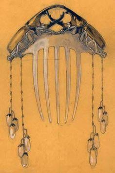 500-daysofart: René Jules Lalique (1860-1945) hair ornament   Exquisite art, 500 days a year.  