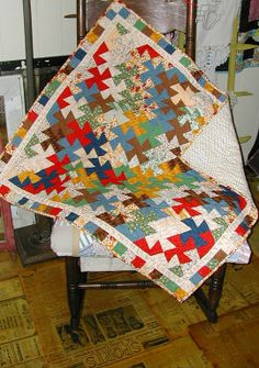 Lil' Twister Quilt: no more templates, tracing, slipping or frustration--only fun!