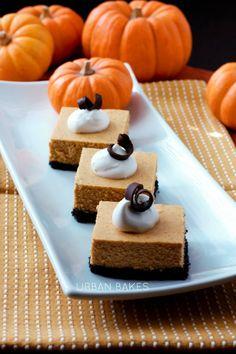 Pumpkin Cheesecake with Oreo-Pecan Crumb Crust | urbanbakes.com