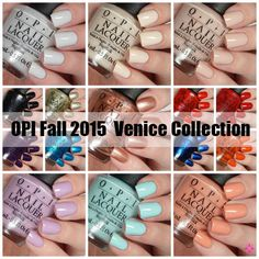 OPI Fall 2015 Venice Collection Swatches & Review
