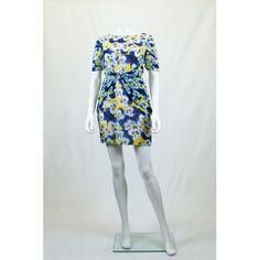 Olivia Rubin Silk Pansy Print Dress