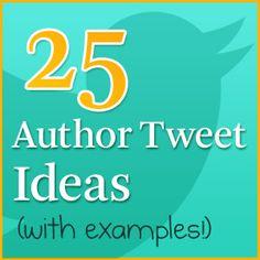 25 Tweet Ideas To Help Authors Fight Follower Fatigue #Twitter #aprthebook #socialmedia