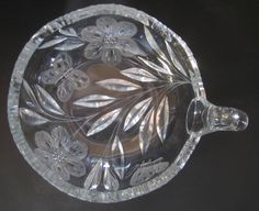 Pairpoint Murillo Butterfly ABP American Brilliant Clear Cut Glass Nappy Bowl