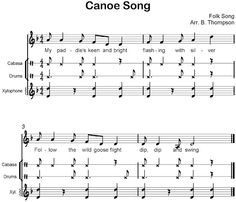Beth's Music Notes: Canoe Song Orff