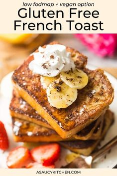Learn how to make the best gluten free French Toast! It's easy to make with basic kitchen staples that you probably already have on hand. Dairy free option available!
