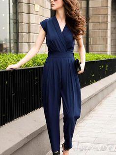 Doresuwe.com SUPPLIES 欧米風上質大人気きれいめオールインワン パンツドレス オールインワン