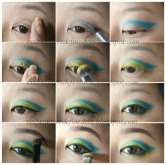 Blue Green Makeup Look and Tutorial