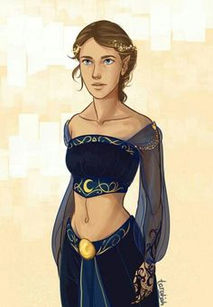 Feyre in Nught Court Attire