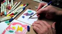 Distress Marker Coloring. Very cool video showing different types of paper and blending, etc. Great introduction to using distress markers.