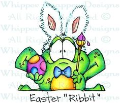 "Easter ""Ribbit"" - Easter - Holidays - Rubber Stamps - Shop"