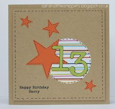 Sarah's Little Snippets: Age cards....