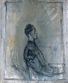 Sketch of Alberto Giacometti by Giovanni Giacometti Alberto Giacometti, Giovanni Giacometti, Giacometti Paintings, Figure Painting, Painting & Drawing, Modern Art, Contemporary Art, Oeuvre D'art, Monet
