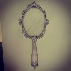 hand mirror sketch. Antique Mirror Tattoo Sketch By - Ranz Hand I