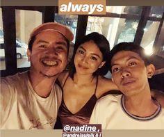 #RediscoverMangoTree Nadine with Petersen Vargas and Andrei Suleik (ctto) Mango Tree, Nadine Lustre, Jadine, Filipino, Celebrities, Celebs, Celebrity, Famous People
