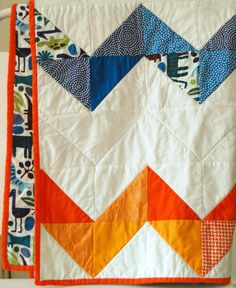 zig zag quilt >> gorgeous colors and simple design.