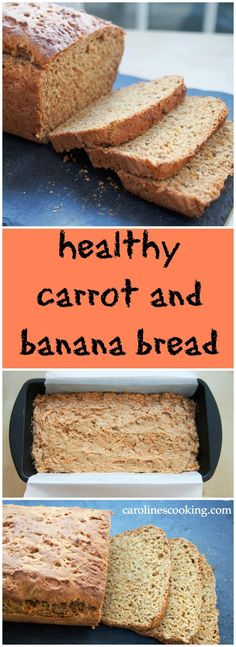 Easy to make, with no added sugar & lots of delicious ingredients, this carrot and banana bread is healthy & the best of carrot cake & banana bread in one. Best Bread Recipe, Easy Bread Recipes, Cake Recipes, Brunch Recipes, Snack Recipes, Dessert Recipes, Snacks, Desserts, Carrot Banana Cake
