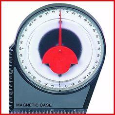inclinometro analogico medidor de angulos con base imantada