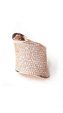 Asymmetrical Pave Wide Band
