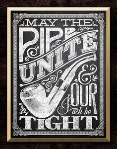 StacheWarden Pipe & Cigar Apparel — Pipe Unite | Signage