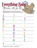 Baby Alphabet Game for Baby Shower