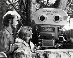 Clint Eastwood with Donna Mills on the set of Play Misty for Me.