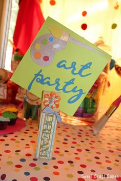 cute party ideas Art Birthday, 4th Birthday Parties, Birthday Ideas, Teen Party Themes, Party Ideas, Art Themed Party, Art Party Invitations, Spa Party, Childrens Party