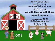 Short Vowel Song to Old McDonald