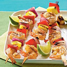 Mango Shrimp Kababs! Someone get me to a grill on the beach.