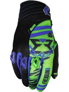 Image 0: Neon Grön-blå 2017 Devo Trooper Junior MX Handskar från Freegun