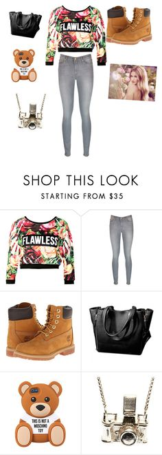 """Untitled #63"" by dallassanders7 ❤ liked on Polyvore featuring 7 For All Mankind, Timberland, Whiteley and Kiel Mead Studio"