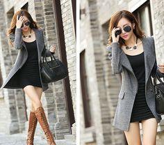TC000888 Woolen slim woolen coat large yard overcoat for women