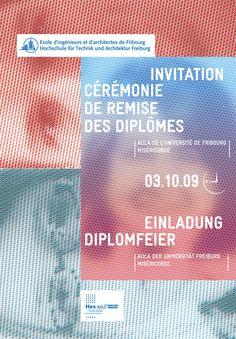 Invitation - Fribourg Switzerland by Da Costa Design
