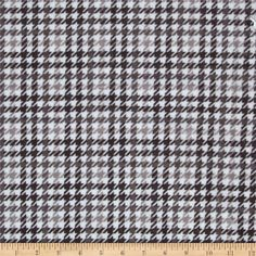 Kaufman Minky Cuddle Classic Houndscheck Grey from @fabricdotcom  This great coordinating or stand alone Cuddle fabric by Robert Kaufman by Ann Kelle is perfect with The Little Safari collection! Featuring colors Ash, Charcoal, and Silver on a Snow White ground is great for all ages. Perfect f
