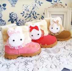 Winter Boot Cotton Shoes for Girls Child Cute Cartoon Snow Boots Princess Kids Skidproof  Warm Boot Size 21-30 $16.40 - 17.70