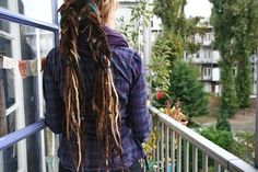 Cool dread hairstyle- love the colors!
