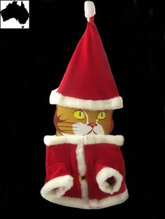 Small Dog Cat Puppy Pet Xmas Santa Clause Outfit Costume Clothing Clothes Red