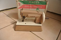 Vintage Singer  Toy Sewing Machine by ZionVintageCrafts on Etsy